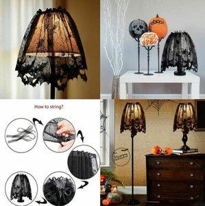 2020 Nouvelle Festive ou partie de Halloween de dentelle noire araignée porte Curtai Nappe Mobilier Décoration