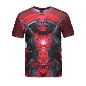 Summer new creative 3D Deadpool printing T-shirt street men's tide card shirt Cosplay Anime Costume Unisex