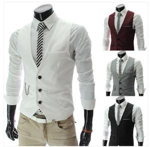Mode Robe Gilets Pour Hommes Slim Fit Mens Costume Gilet Homme Gilet Gilet Homme Casual Sans Manches Formel Veste D'affaires Hotsale
