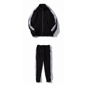 Homens Novos Fatos de Treino de Luxo Fatos de Treino Outono Marca Designer Mens Treino Ternos Jogger Jacket + Calças Conjuntos Terno Esportivo