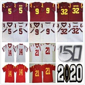 2020 NCAA USC TROJANS 5 Reggie Bush 9 Kedon Slovis 21 Jackson 14 Sam Darnold 32 OJ Simpson 43 Troy Polamalu 55 Junior Seau Futbol Formaları