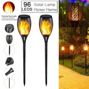 96LED Solar Power Taschenlampe Licht flackern Flammengarten wasserdichte Gartenlampe leichte wasserdichte Sonnenlicht Sonnenlicht für Gartendekoration