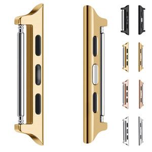 bande montre en acier inoxydable accessoires pour montre de pomme 1 2 3 4 5 bande de montre bracelet pour iwatch 38 42 44 40 mm de l'adaptateur de connecteur télescopique