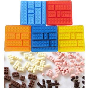 Silicone Chocolats Moules gâteau blocs de construction Bac à glaçons moule bricolage moule en silicone chocolat Outils Ice Cube Tray gâteau KKA7911