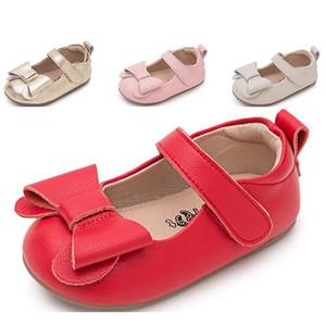 2020 sapatos Toda venda de bebê arco frete grátis calçados das meninas da moda Primavera Outono nó vermelho rosa designers de ouro sapatos eur 22-35