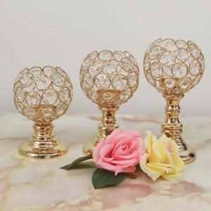 크리스탈 원형 촛대 캔들 홀더 장식 결혼 테이블 테이블 촛불 컵 가정 장식