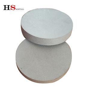 Hot vente 30 microns de diamètre de titane en forme de plaque de filtre poreux en métal fritté 200mm ti mousse baoji fournisseur d'usine