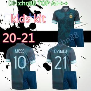 Copa América 2020 jérsei de futebol 2021 crianças KITS 20 21 MESSI DYBALA MARADONA camisas de futebol criança Argentina AGUERO DI MARIA Higuaín