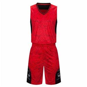 Ensembles de maillot de basketball pas cher pour hommes de bonne qualité New Style 107