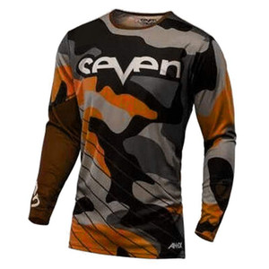 2019 Yedi motokros jersey downhill camiseta ropa mtb Uzun Kollu Moto Jersey dağ bisikleti dh gömlek mx motosiklet giyim