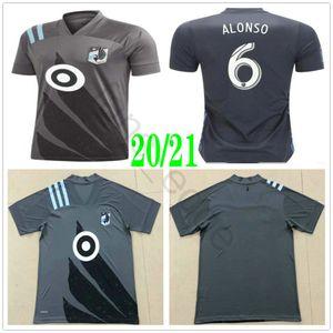 2020 2021 MLS Minnesota United FC Football Jersey 6 ALONSO 5 CALVO 25 DARWIN JR 8 Greguš 11 CHACON sur mesure 20 21 Domicile Extérieur Football shirt