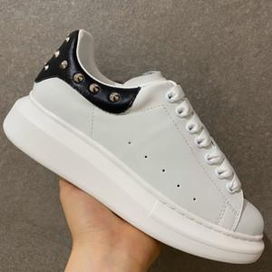 Erkekler Kadınlar Platformu Boş Ayakkabı Sneakers Moda Gerçek Deri Aşıklar Elbise Günlük Ayakkabılar Trainer