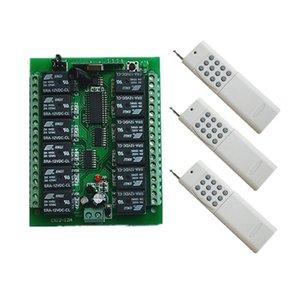 DC 12V 24V 10A 12 CH 12CH RF беспроводной пульт дистанционного управления Переключатель системы передатчик + приемник / лампа / двери гаража / жалюзи / окно