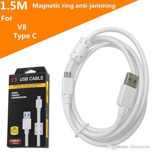 Nouveau câble de données type C micro USB avec bague magnétique blindage anti-interférence de la transmission de données plus rapide et plus stable avec le paquet de détail