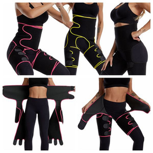 Waist Thigh Trimmers 3 in 1 Waist Trainer Butt Lifter and Hips Burn Fat 2 Size Fat Burner Leg Slimming Waist Trimmer LJJK2099