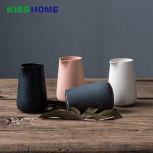 450cc Nordic Minimalisme Milk Jugs 8.8x8.5 * 13cm porcelaine mat glacé Surface de Sharp Aigle Bouche Frothing Pot Récipient à café
