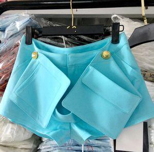 2020 Botão Verão Side Pocket Mulher de Mulheres Shorts Slimming Shorts Senhoras roupa sexy Nancylim