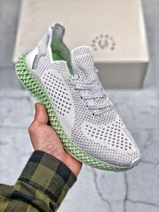 Daniel Arsham x AlphaEdge 4D LTD Printing Technology 3M Reflective Running Shoe Futurecraft Grey Black White Mens Designer Sport Sneaker