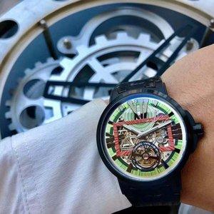 YENİ lüks mens saatler vaka kauçuk kayışı izle spor kuvars Fonksiyonlu kronograf takvim saatı Montre pro dalgıç çerçeve