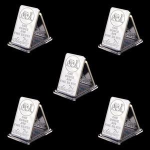 Livraison gratuite 5pcs non magnétique USA Towne PROSPECTEUR 1OZ Bar once Troy Silver Plaqué Bullion Silver Plaqué Barre commémorative