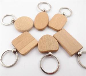 새로운 빈 원 나무 열쇠 고리 서클 Keychains 수 개별 레이저 새겨진 모든 메시지 사용자 지정 이름