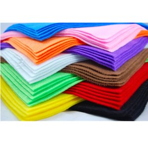 10* Soft Non Woven Felt Fabric Sheets Fiber Thick Kids DIY Craft Assorted Fabric Square Embroidery Scrapbooking Craft AA8501