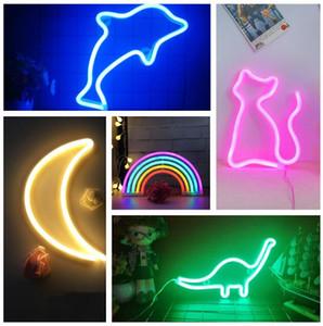 Moda Renkli Gökkuşağı Led Neon Ay Kaktüs Dudaklar Flamingo Yunus Burcu Işık Tatil Noel Partisi Düğün Süslemeleri Çocuk Odası Gece Lambası