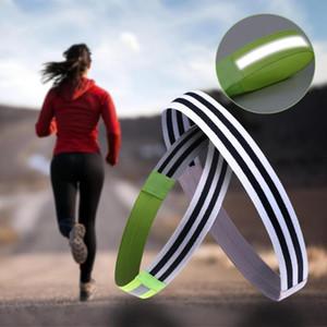 Sweat-Absorbent Sport Stirnband Nacht Reflektor-Streifen Anti-Rutsch-Silikon elastische Silikon-Schweißband Haarreif Fitness Lauf