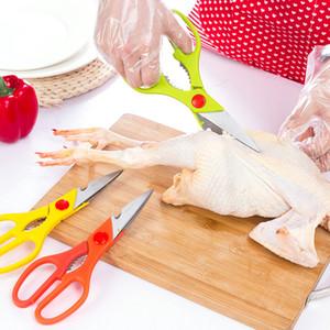 Cucina in acciaio inox forbici con impugnatura antiscivolo Dado Pinze Bottiglie apri pollo anatra pesce Scaler Cesoie Cesoie verdure DH1469 T03
