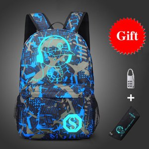 Новые аниме Школьные рюкзаки для малышей Сумки Детские рюкзак с мешок карандаша и противоугонной блокировки Мальчики Подростки Student Book Bag S200108