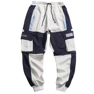 Automne multi poches Cargo sarouel Hip Hop Casual Male Joggers Pantalons Mode Harajuku Pantalons Streetwear hommes