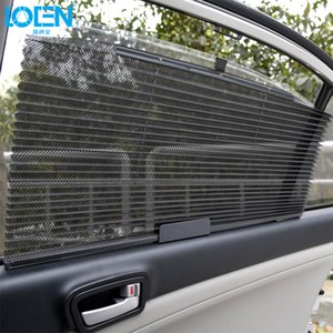 1PCS 60 * 46CM 자동차 차양 블라인드 커튼 철회 UV 보호 커버 썬 쉴드 블랙의 경우 차량 앞 유리 사이드 윈도우