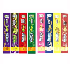 6 types MEDICATED Nerds Rope Empty Packaging bags Nerds Rope Candy Nerdsrope Gummy Bags Three Edge-sealing Bag Foil Food Package