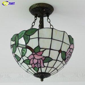 FUMAT European Metal Garden Creative Ceiling Lamp Warm Art Stained Glass Aisle Lightings For Living Room Ktichen Ceiling Lamp