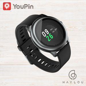Xiaomi Youpin Haylou Solar LS05 Смарт часы металла спорта круглый корпус сердечного ритма сна монитор IP68 водонепроницаемый 30 день батареи IOS Android