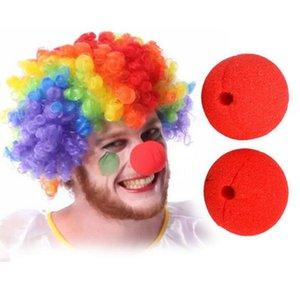 Red Ball Sponge Clown Nose Accessori per abiti magici per decorazioni di nozze per feste Costume di Halloween di Natale RRA1977