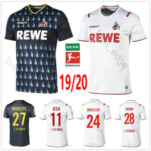 19 20 FC Koln Futebol 24 DREXLER 14 HECTOR 27 MODESTE SKHIRI MERE VERSTRAETE Jeck Personalizado 2019 2020 Black White Football Shirt