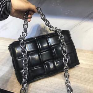Womens Shoulder Bag Bandoleira Sacos de alta qualidade Tote Bag Moda Pillow Bag Plain Mulheres Cadeia Brands Handbag padrão quadrado frete grátis