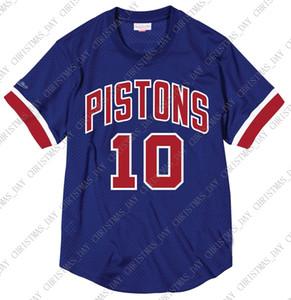 Hombres camisa de malla Jersey encargo barato Dennis Rodman Mitchell & Ness los hombres de cosido jersey de baloncesto de verano tee retro