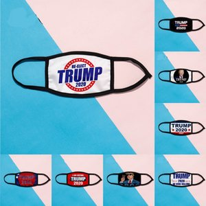 DHL Shipping Donald Trump Mask Face Mouth Masks Funny Anti-Dust Ice Cotton USA Woman Men Unisex Fashion Summer Black Washable Mask X351FZ