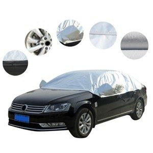 Half Car Cover Roof Top Sun UV / Protection contre la pluie extérieure étanche universel Pare-brise Mirror Shield Cover Accessoires