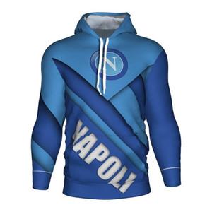 Napoli Futbol Jersey 3d Hoodie Napoli Ssc'nin Kazak Eşofman Hoody Eğitim Kulübü Kapüşonlular Yüksek Kalite