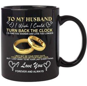 DHL 11oZ 내 남편 크리스마스 선물 선물 생일 아버지의 날 발렌타인 데이 선물 결혼 기념일 선물 물 차 커피 잔 9.5 * 8cm