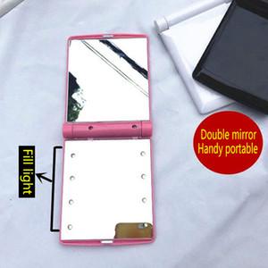 Новые Горячие продажи Настольный Портативный 8 LED Light Mirror Компактные фонари Освещенные Путешествия Зеркало для макияжа
