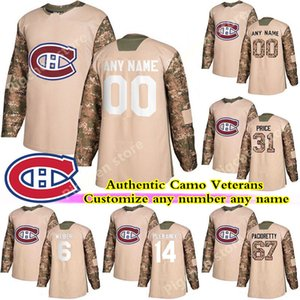 Camo Veterans Day Practice Montreal Canadiens jerseys 13 Max Domi 31 Carey Price Gallagher Weber Custom any name any number hockey jersey