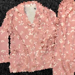 مجموعات قميص فاخر قديم زهرة المطبوعة نساء البيجامة ارتفاع درجة L رسالة الحرير النساء ملابس بنات حلوة الصفحة الرئيسية ملابس