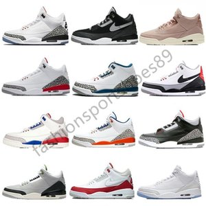 Wholesale 3 Casual shoes International Flight Pure White Black Cement Tinker JTH NRG QS Katrina Free Throw Line mens Casual Shoes