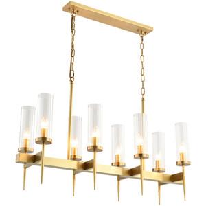 Современное золото Металл Прозрачное стекло подвеска лампа Урожай висячие свет потолочное освещение Гостиная Home Hotel Fixtuer Освещение PA0604