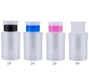 Pompe 160ml bouteille Distributeur, ongles Nettoyant Détachant polonais Distributeur Nail Art Tool, 2 couleurs en plastique liquide Container avec Flip Top Cap