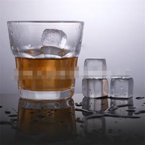 Barras de piedras de whisky de forma cuadrada Cocina Barra de barra de piedra de cristal natural Blanco Mármol transparente Nueva llegada 1 7by L1